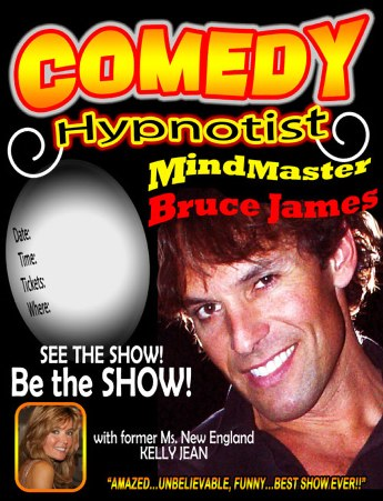 High School Comedy Hypnotist Stage Fundraising Hypnotist Comedian Hypnotist performing stage hypnosis Bruce James